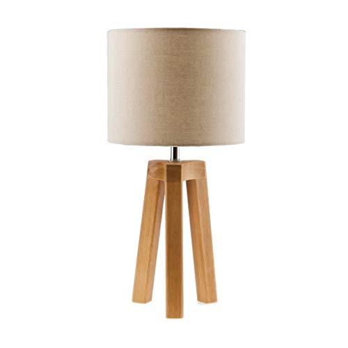 Lámpara de mesa T-ara de madera, moderna, minimalista, estudio, sala de estar, dormitorio, lámpara de mesa de protección ocular para la vuelta a la escuela, la noche, la oficina, la lectura,