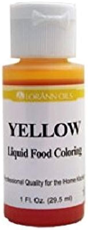 Lorann Oils Liquid Food Color 1 Ounce Yellow