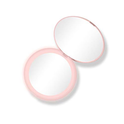 Mini Miroir de Maquillage Miroir de Maquillage Portable Peut être plié avec 10 Fois Une loupe HD Protection de l'environnement léger Quatre Couleurs en Option