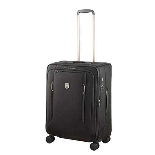 Victorinox Werks Traveler 6.0 Medium Softside Spinner Suitcase, 24-Inch, Black