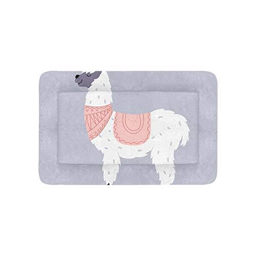 Llama Linda Bebé de Dibujos Animados Lama Moda Grande Ropa de Cama Impresa Suave Camas Perros Mascotas Sofá Cachorros y Gatos Estera Cojín Cubierta de cojín Cojín Regalo Proveedor 36 x 23 Pulgadas