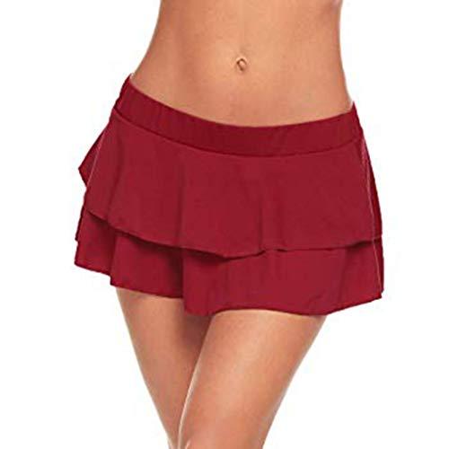 Holywin Mini Jupe Taille Basse Club de Mode Femme