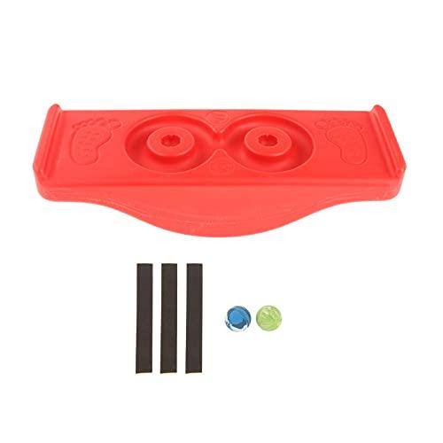 Perfeclan Tablero de Equilibrio de plástico, Tablero de Equilibrio oscilante para niños, Tablero basculante de Yoga, Juguete de balancín de tamaño para niños