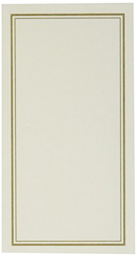C.R. Gibson Vanilla and Gold Table Place Cards for All Occasions, 20pc, 3'' W x 1.75'' H