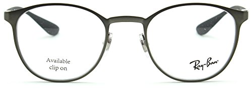 Ray-Ban RX6355 Metal Round RX Eyeglasses Matte Gunmetal 2620, 47