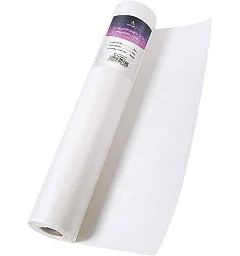 Tritart Rotolo di Carta Lucida da Disegno 40cm x 50m 50g/m I Rotolo carta disegno I Carta per cartamodelli ideale per professionisti ed artisti I bianca