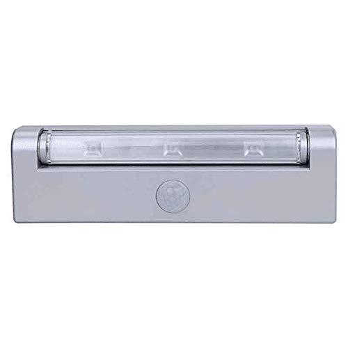 RITOS Batterie LED Lichtleiste mit Bewegungsmelder, schwenkbar, Silber