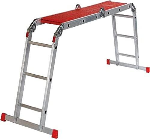 Altrex Varitrex Plus Escalera plegable Aluminio, Rojo - Escalera de mano (150 kg, 13 kg)