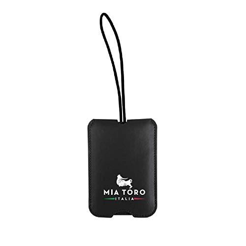Mia Toro Sliding Cover Name Luggage Tag, 25 cm, Black