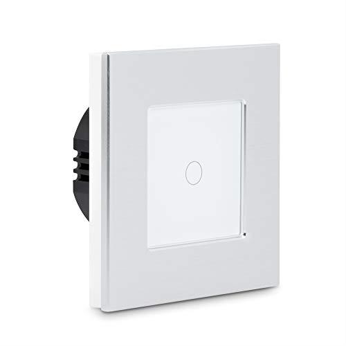 Navaris Interruptor táctil de pared - Llave de luz con pantalla táctil - Conmutador de cristal con sensor al tacto -...