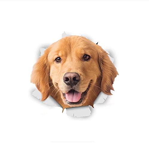 MDGCYDR Adesivo per Auto Cane Decalcomanie Adesive 3D per Cani da 20 Cm per Auto Laptop Bagagli Frigorifero Porta Decor Giocattolo Impermeabile