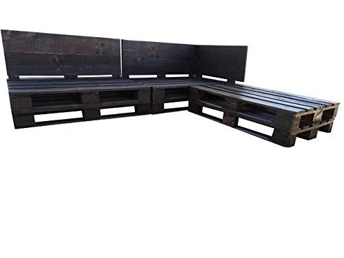 Conjunto Chaise Long color Nogal (3 piezas) para Interior & Exterior para Patio, Jardín Hecho con Palets de Madera - Mueble