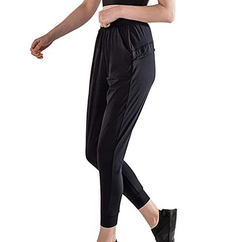 JNWBFC Pantalones De Mujer para Correr Nueve Minutos Pantalones De Yoga Sueltos Y Transpirables Entrenamiento para Correr Verano Deportes Casual De Alta Elasticidad