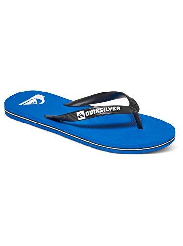 Quiksilver Herren Molokai-Flip-Flops for Men Dusch-& Badeschuhe, Schwarz (Negro/(Xkbk Black/Blue/Black) Xkbk), 43 EU