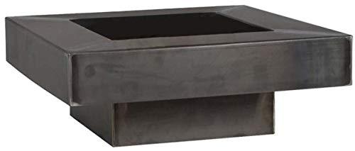 FARMCOOK Feuerschale PAN-5 Stahl unbehandelt in drei Größen (80x80x22 cm)