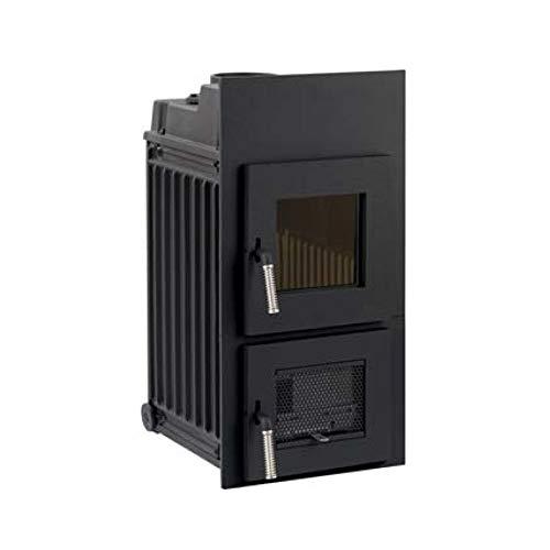 LEDA Kachelofen-Einsatz Rubin K16 (6,0 kW) mit Frontplatte 790 x 390 mm