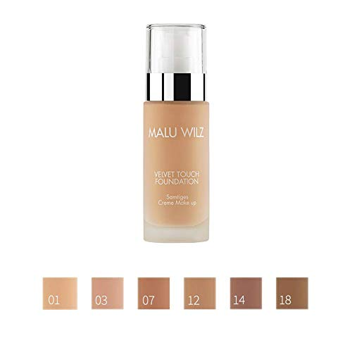 MALU WILZ Velvet Touch Foundation (30 ml) Light Caramel, Nr. 32 NEU!