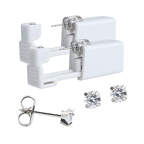 Disposable Ear piercing guns unit kit x2 with preloaded 4mm tiffany cut...