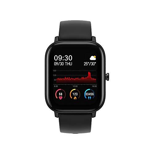 FossenMA P8 Smartwatch, Reloj Inteligente con Pulsómetro, Cronómetros, Calorías, Monitor de Sueño, Podómetro Monitores de Actividad Impermeable IPX7 Smartwatch Reloj Deportivo para Android iOS (Negro)