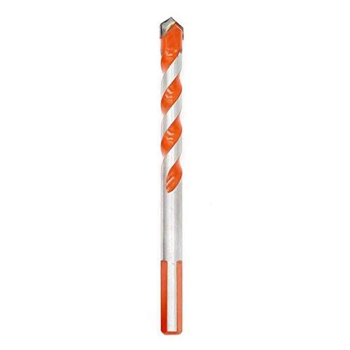 LIGH Multifunktionale Keramikbohrer Fliesen Glaslochöffner Wandbohrwerkzeug Overlord Griff Legierung Bohrer - Silber + Orange