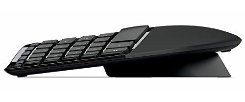 Microsoft Sculpt Ergonomic Desktop (Set mit Maus und Tastatur, deutsches QWERTZ Tastaturlayout, schwarz, ergonomisch, kabellos)