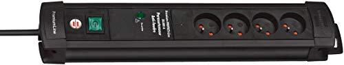 Brennenstuhl 1155001764 Premium Protect Techno-Alargador de 4 enchufes con protector de sobretensión y filtro