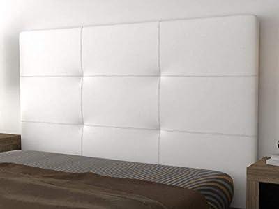 Cabezal acolchado con espuma HR, fabricado manualmente de tacto suave y agradable. Cabecero de cama para dormitorios juveniles y de matrimonio. Complemento ideal para optimizar su lote de descanso de LA WEB DEL COLCHÓN. Cabecero tapizado en tejidos p...