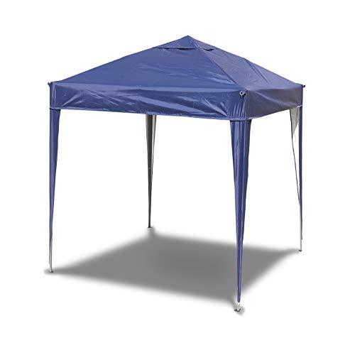 SANHENG Pavillon 3x3 WASSERDICHT, Faltpavillon wasserdicht, Partyzelt schnellaufbau Gartenpavillon Pop Up Zelt Sonnenschutz Stahlgestell (Blau,3x3 m ohne Seitenteile)