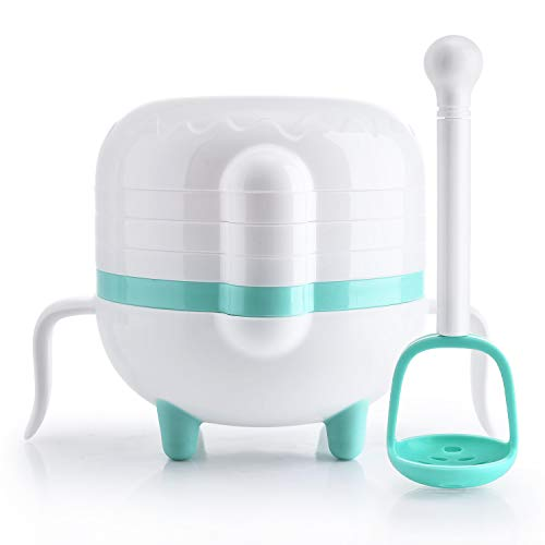 NCVI Baby Food Masher Maker Portable Feeder Food Toddler Puree Cooking Machine Complementary Tool Kit