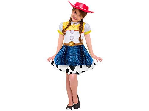 Fantasia Jessie Toy Story 4 Vestido Infantil Original Disney Roupa Com o Chapéu da Vaqueira Jessie