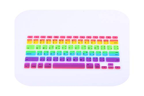 Rainbow Thai Letters Keyboard Film Protector for MacBook Air Pro Retina 13 15 17 Laptop Skin Covers for MAC Book 13 15 Gel case-Brown-