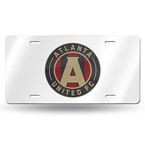 "FHJEyh3 Atlanta United Racer Metal License Plate Tag,6"" X 12"""