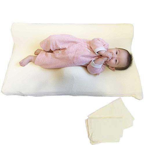ベビー マットレス 向き癖 絶壁 天使のねむり 赤ちゃん 寝返り防止 ベビーマット (カバー2枚セット)