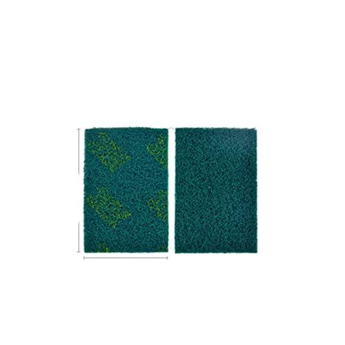 10 Uds, Estropajo industrial, paño de cepillo, eliminación de óxido grueso, Flexible, no tejido, mano, industria, limpieza de cocina, 320, verde, 100 x 140 mm