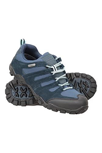 Mountain Warehouse Belfour Chaussures de Marche pour Femmes - Chaussures de randonnée légères, Respirantes, Toutes Saisons, à Lacets - Les treks, la Gym et Le Jogging Bleu Marine 37