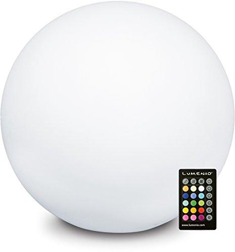 LUMENIO LED Kugel Leuchtkugel Leuchtobjekt multicolor 15 verschiedene Farben (Ø 60cm / Höhe 56cm)