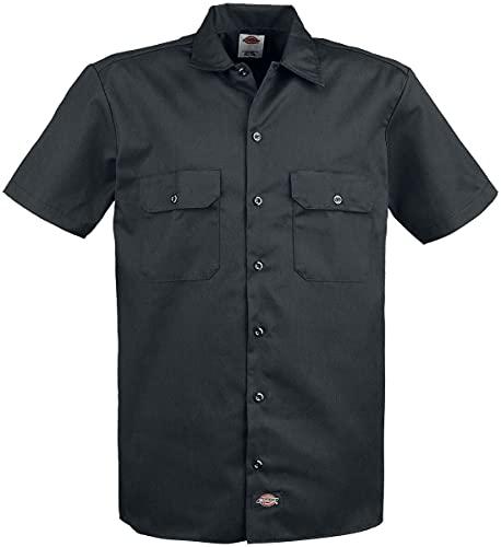 Dickies Herren Freizeithemd Work Shirt Short Sleeved, Schwarz (Black Bk), X-Large (Herstellergröße: XL)