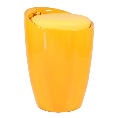 Fußhocker Einfacher Kunststoff-PU-Haushaltslagerhocker, 4 Farben GFMING (Farbe : C, größe : 35x35x50cm)