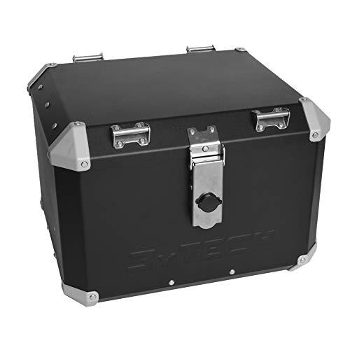 MyTech - TopCase, Top Case, Motorradkoffer 41L aus hochfestem Aluminium beschichtet – mit Trägerplatte für R 1200 GS Adventure LC 2013 – R 1250 GS Adventure LC (Schwarz)