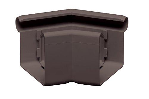 INEFA Rinnenwinkel 135 Grad, kastenförmig, NW 68 Dunkelbraun Wulst außen - Kunststoff
