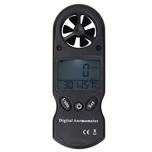 Anemómetro digital 3 en 1 anemómetro digital LCD medidor de viento medidor de aire probador con medición de temperatura y humedad KT300