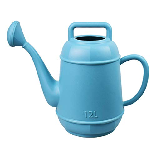 LLDKA Big Long Mouth Plastic Watering Canned Housewear Removal Mounting Dock 12L Watering Can,Blue