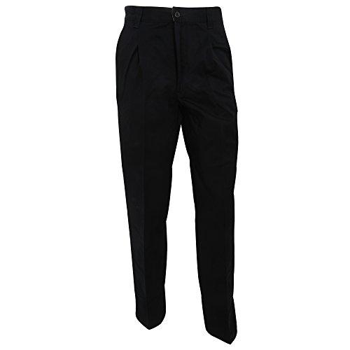 RTY Workwear - Chinos casuales para trabajar resistentes a manchas Modelo Stain Single hombre caballero (76cm/T/Negro)