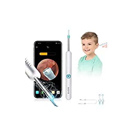 Endoscopio per la rimozione del cerume, strumento per la rimozione del cerume con fotocamera per l\'orecchio, endoscopio per l\'orecchio 1080PFHD, compatibile con iPhone, iPad, Android (Argento)