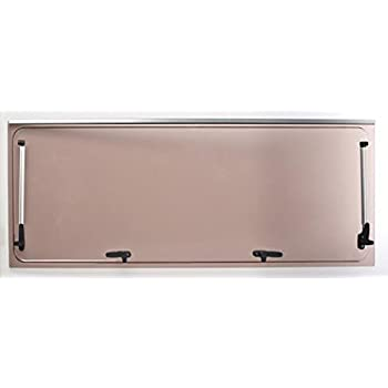 Vetro di ricambio 1168x232 per finestra camper Seitz 1200x300 compresi accessori colore Bronzo
