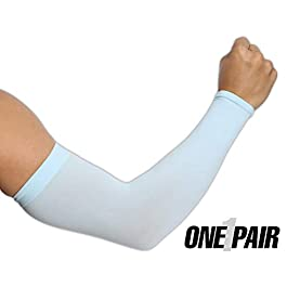 UV Sun Protection Arm Sleeves for Men & Women – UPF 50 Sports...
