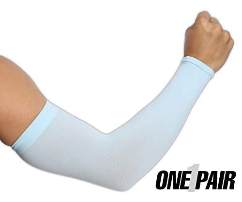 Tough Outdoors UV Protection Cooling Arm Sleeves UPF 50 Long Sun Sleeves for Men and Women