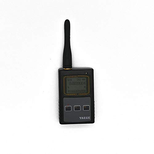 Fumei 10Hz-2.6GHz Handheld Frequency Counter Portable Frequency Meter Range 10Hz-100MHz/50MHz-2.6GHz Multi-Function LCD Display for Two-Way Radio