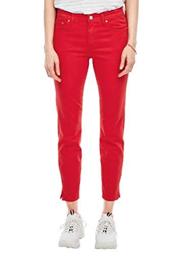 s.Oliver Damen Slim Fit: Ankle-Jeans red 44
