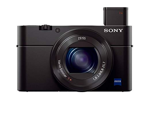 Sony RX100 III Creator Kit | Premium-Kompaktkamera mit Aufnahmegriff VCT-SGR1 (1.0-Typ-Sensor, 24-70 mm F1.8-2.8 Zeiss-Objektiv und neigbares Display für Vlogging)